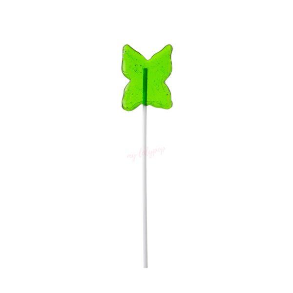 Piruleta de caramelo cristal con forma de mariposa mini