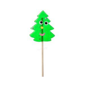 Piruleta artesana de caramelo cristal árbol de Navidad