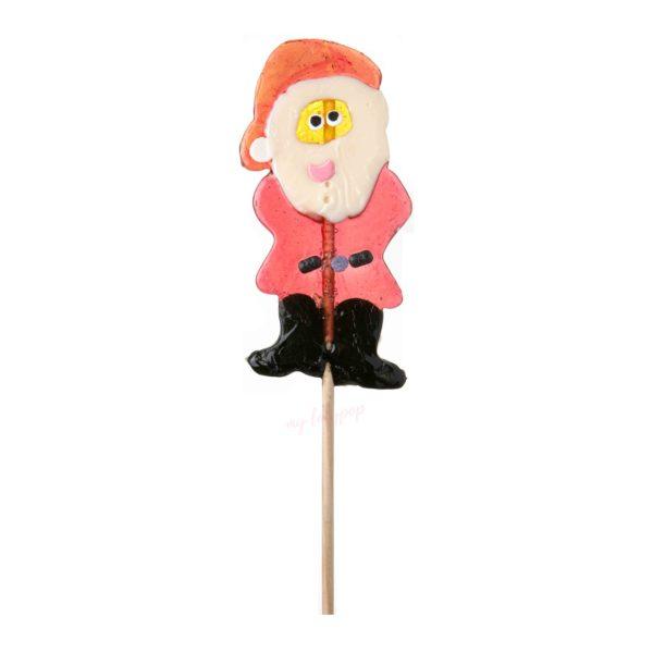 Piruleta artesana de caramelo Papa Noel