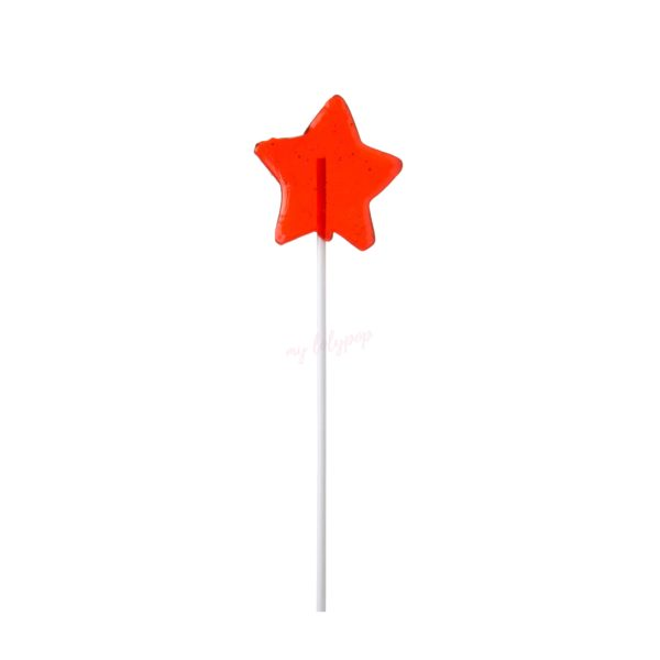 Piruleta de caramelo cristal con forma de estrella mini