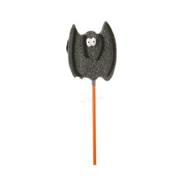 Piruleta de gominola con forma de murciélago