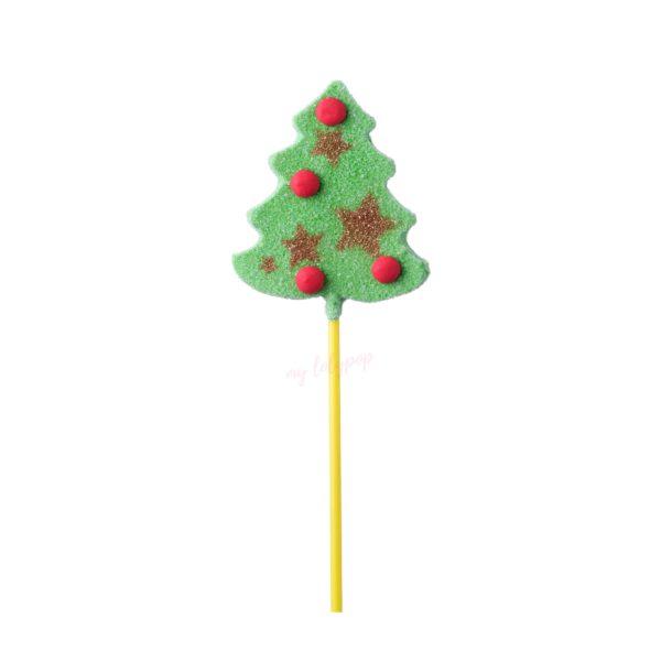 Piruleta gominola con forma de ábol de Navidad decradoor